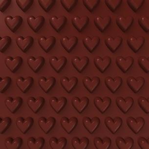 ハートパターンの板チョコ 背景素材用の写真素材 [FYI00281943]