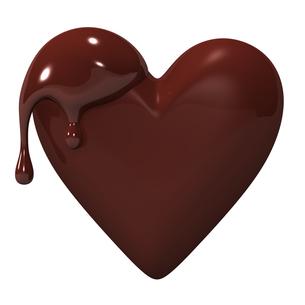 溶けたハート型のチョコレートの写真素材 [FYI00281945]