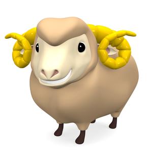 笑顔の羊の写真素材 [FYI00281991]