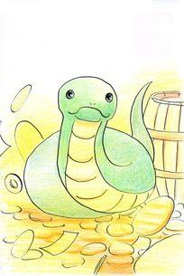 金運アップ蛇の写真素材 [FYI00282277]