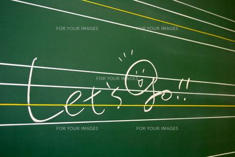 黒板 メッセージの写真素材 [FYI00282361]