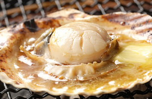 北海道産・ホタテのバター焼きの写真素材 [FYI00282471]