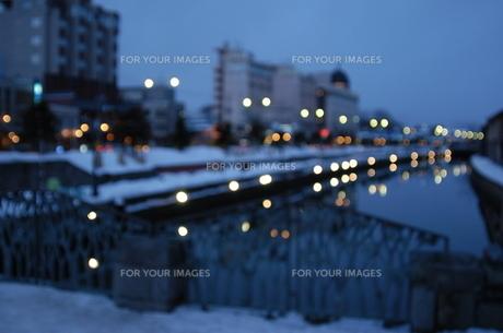 冬の小樽運河の写真素材 [FYI00282499]