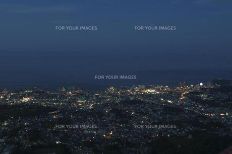 小樽天狗山展望台からの夜景の素材 [FYI00282502]