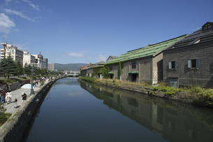 小樽運河の写真素材 [FYI00282503]