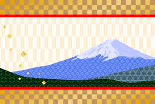 富士山の年賀状の写真素材 [FYI00282617]
