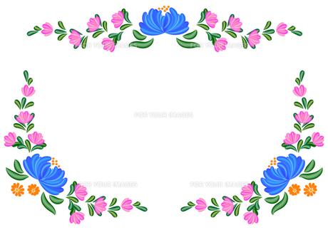 トールペイントの花模様の素材 [FYI00282627]