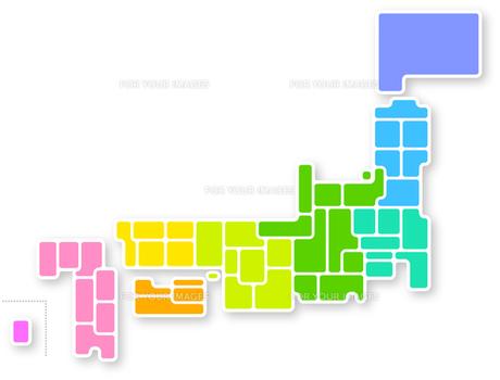 日本地図の写真素材 [FYI00282635]