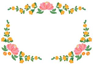 トールペイントの花模様の素材 [FYI00282641]