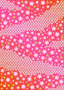 桜と鹿の子しぼりの背景模様の写真素材 [FYI00282663]