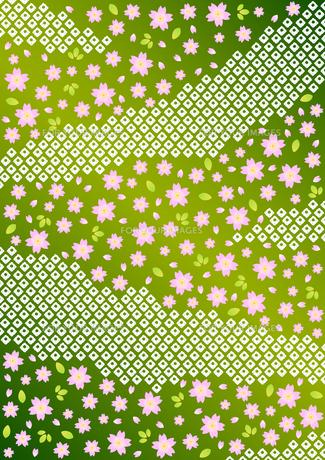 桜と鹿の子しぼりの背景模様の素材 [FYI00282687]