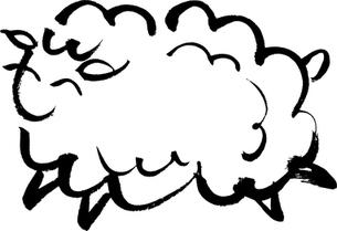 毛筆による羊のイラストの写真素材 [FYI00282866]