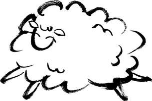 毛筆による羊のイラストの素材 [FYI00282867]