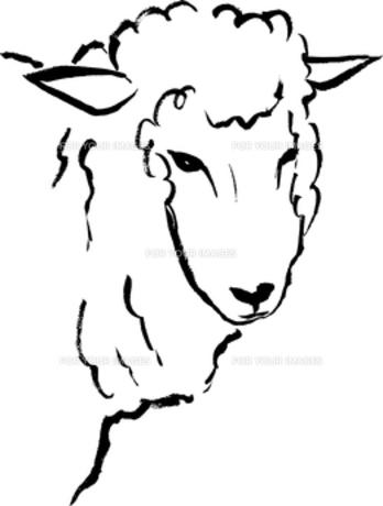 毛筆による羊のイラストの素材 [FYI00282871]