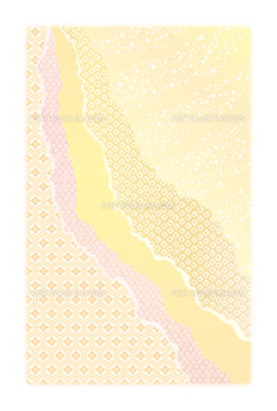年賀状用 ハガキサイズ 背景素材の写真素材 [FYI00283184]