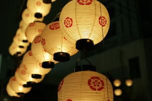 夏祭り提灯の写真素材 [FYI00283291]