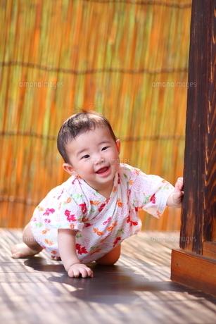 浴衣姿の赤ちゃんの写真素材 [FYI00283680]