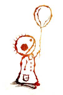 風船を持つ男の子の写真素材 [FYI00283921]