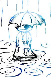 傘を差すの写真素材 [FYI00283937]