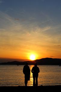 夕日の祝福の写真素材 [FYI00283977]