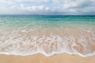 沖縄の海と砂浜の写真素材 [FYI00284077]
