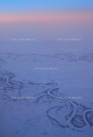 凍結した川の写真素材 [FYI00284275]