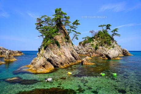 浦富海岸夏景の写真素材 [FYI00284325]