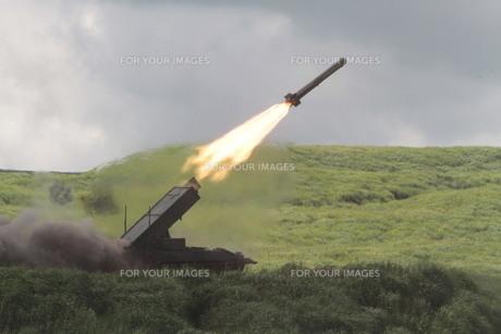 富士総合火力演習 ミサイルの写真素材 [FYI00284457]