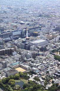 京都駅北口を空撮の写真素材 [FYI00284460]