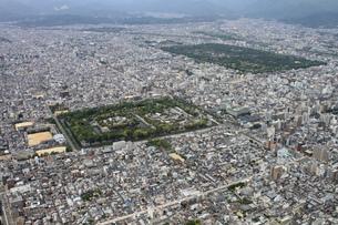 京都市中心部の空撮の写真素材 [FYI00284468]