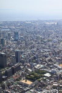 兵庫県庁の上空から神戸駅方向を空撮の写真素材 [FYI00284470]