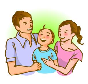 家族のイメージ(夏服)の写真素材 [FYI00284529]