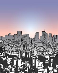 ビルの風景(トワイライト)の写真素材 [FYI00284531]