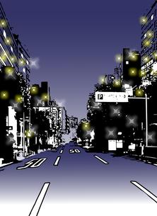 ストリート(夜景)の写真素材 [FYI00284539]