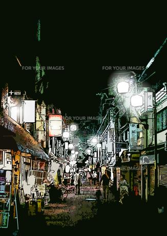 夜の街の写真素材 [FYI00284541]
