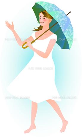 傘をさす女性の写真素材 [FYI00284556]