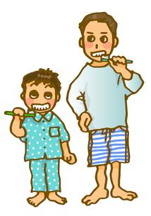歯磨き親子の写真素材 [FYI00284563]