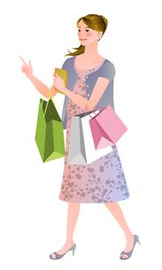 買い物する女性の写真素材 [FYI00284566]