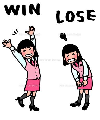 女性・勝ち負けの写真素材 [FYI00284576]