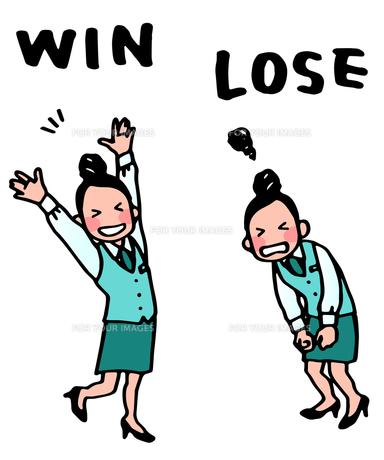 女性・勝ち負けの写真素材 [FYI00284577]