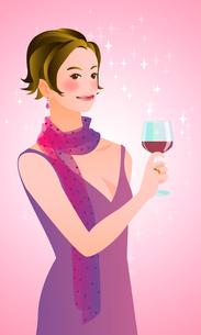 ワイングラスを持つ女性の写真素材 [FYI00284584]
