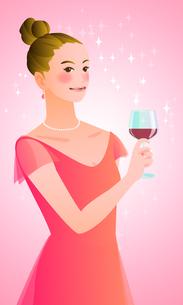 ワイングラスを持つ女性の写真素材 [FYI00284601]