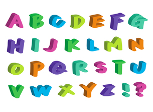 アルファベットの写真素材 [FYI00284604]