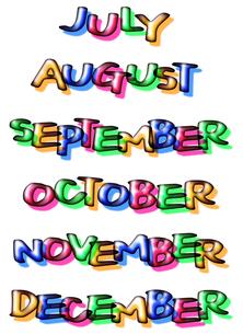 7月から12月の写真素材 [FYI00284606]