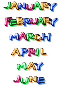 1月から6月の写真素材 [FYI00284610]