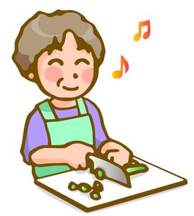 料理する女性の写真素材 [FYI00284671]