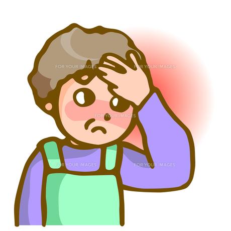 発熱と頭痛の写真素材 [FYI00284683]