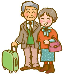 老夫婦の旅行の写真素材 [FYI00284723]