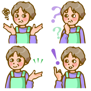 女性の表情4パターンの写真素材 [FYI00284724]