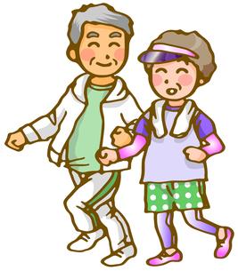 老夫婦のジョギングの写真素材 [FYI00284726]